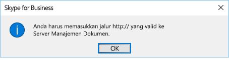 Pesan kesalahan ditampilkan saat Anda mencoba membuka file dari lokasi selain OneDrive for Business