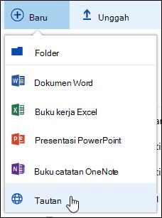 Menambahkan link ke pustaka dokumen