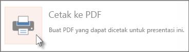 Mencetak slide sebagai PDF