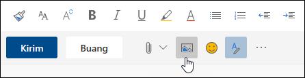 Cuplikan layar tombol sebaris Sisipkan gambar
