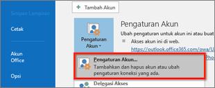 pengaturan akun Windows