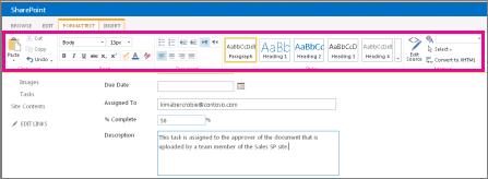 Memformat toolbar