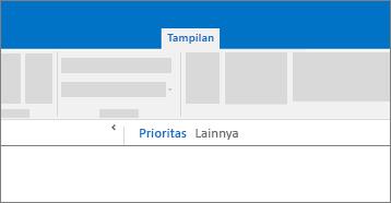 Cuplikan layar konseptual fungsi fokus pada kotak masuk