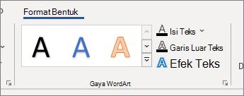Grup opsi gaya WordArt