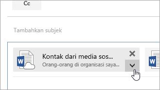 Cuplikan layar tombol Tindakan lainnya.