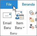 Pilih tab File.