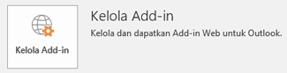 Klik Kelola Add-in