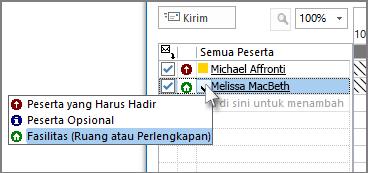 Klik ikon di sebelah kiri nama, lalu klik Sumber daya