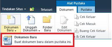 Menambahkan dokumen baru ke Pustaka Dokumen