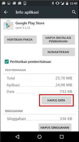 Tombol hapus data