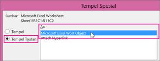 Pilih Microsoft Excel