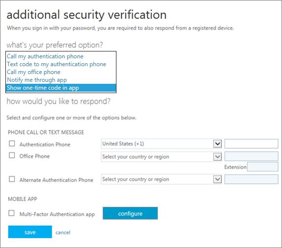 halaman verifikasi keamanan tambahan