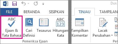 Perintah Periksa Ejaan & Tata Bahasa