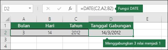 Fungsi DATE Contoh 2