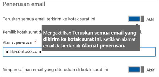 Tambahkan alamat email karyawan saat ini.