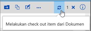 Melakukan check out catatan dengan ikon disorot