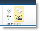 Perintah tag sosial pada tab Daftar atau Pustaka pada pita