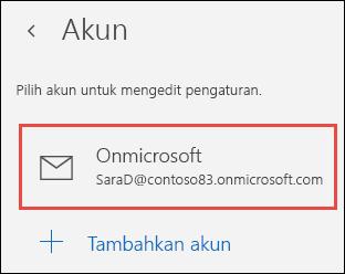 Akun dalam aplikasi Email