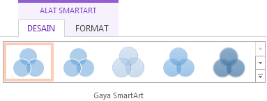 Grup Gaya SmartArt pada tab Alat Desain SmartArt