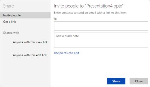 Mengundang orang ke presentasi
