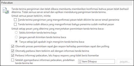 Menambahkan informasi pelacakan ke pesan Anda.