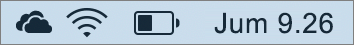 Ikon OneDrive di baki sistem Mac