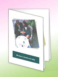Kartu ucapan dibuat di Microsoft Office Publisher 2007