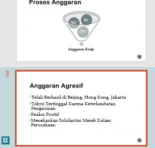 Penyorotan revisi di panel gambar mini PowerPoint