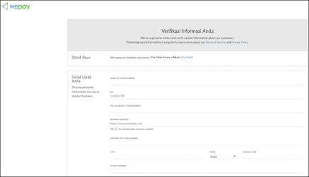 Cuplikan layar: memperlihatkan Nyiiiip, verifikasi informasi verifikasi langkah