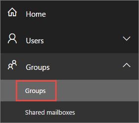 Lihat Grup Office 365 baru Anda di pratinjau Pusat admin
