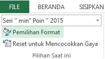 Pemilihan Format berada pada tab Format.