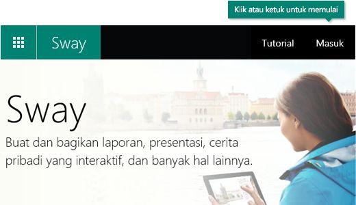 Tombol Masuk di toolbar