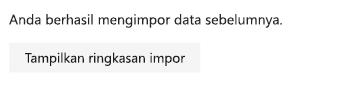 Cuplikan layar opsi untuk impor Tampilkan ringkasan di pengaturan To-Do