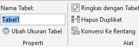 Gambar kotak nama di bilah rumus Excel untuk mengganti nama tabel