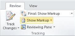 Perintah Perlihatkan Markup