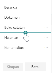 Menyisipkan link di navigasi kiri