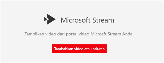 Komponen web Microsoft streaming