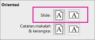Orientasi Halaman PPT untuk Mac