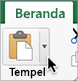 Panah di samping tombol Tempel