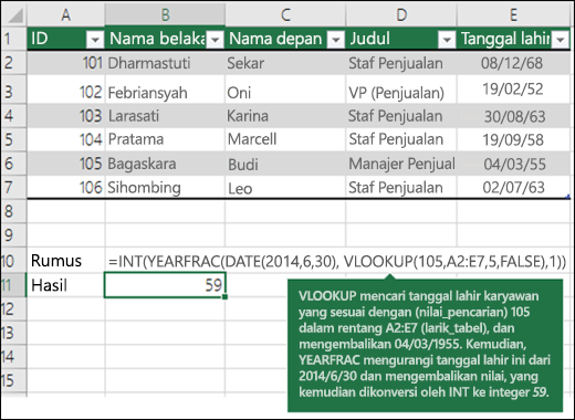 Contoh VLOOKUP 4