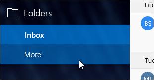 Cuplikan layar link folder lainnya