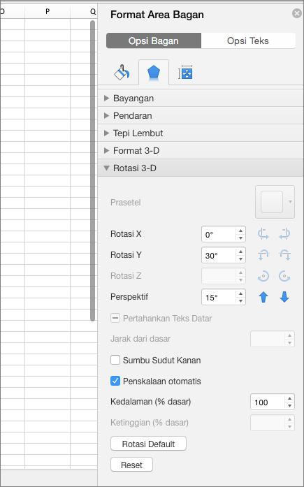 Panel format Area bagan
