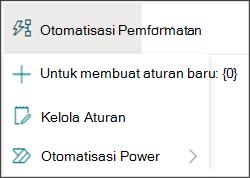 Gambar menu Otomatis dengan Power Automate dipilih