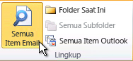 Semua Item Email pada pita