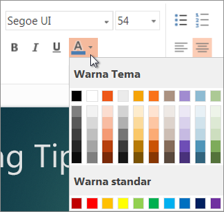 Memilih warna teks