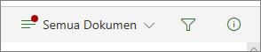 Indikator di ikon opsi tampilan