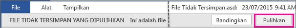 Buka File yang Tidak Tersimpan Office 2016