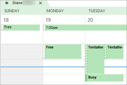 Apakah kalender Anda terlihat seperti untuk orang yang Anda dibagikan dengan.