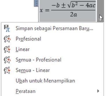 Layar profesional dan opsi Linear