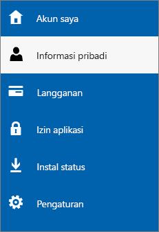 Perbarui informasi pribadi admin Anda
